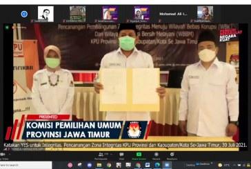 KPU Provinsi Jawa Timur Canangkan Pembangunan Zona Integritas Menuju Wilayah Bebas Korupsi (WBK) dan Wilayah Birokrasi Bersih dan Melayani (WBBM)